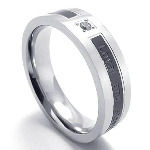 fedi nuziali prezzi low cost: anello acciaio inox con messaggio a 22,99 euro