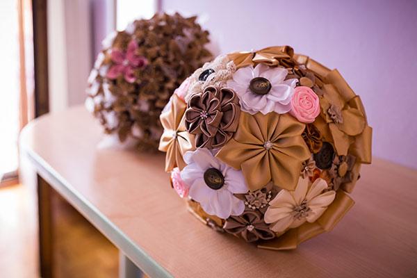 decorazioni di stoffa matrimonio