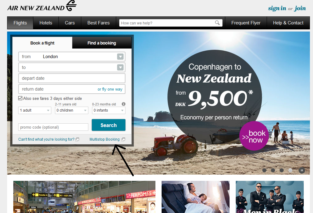New-Zeland-Air-Booking
