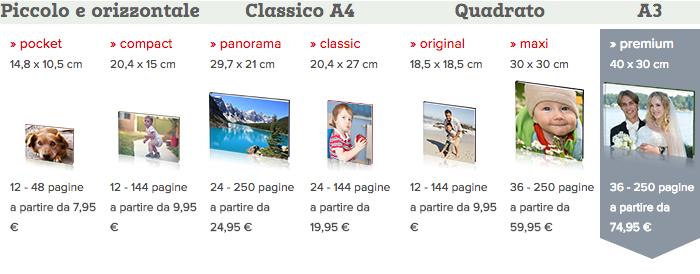 fotolibri online matrimonio: prezzi QuiFoto.it premium 40x30 cm copertina rigida 36 pagine