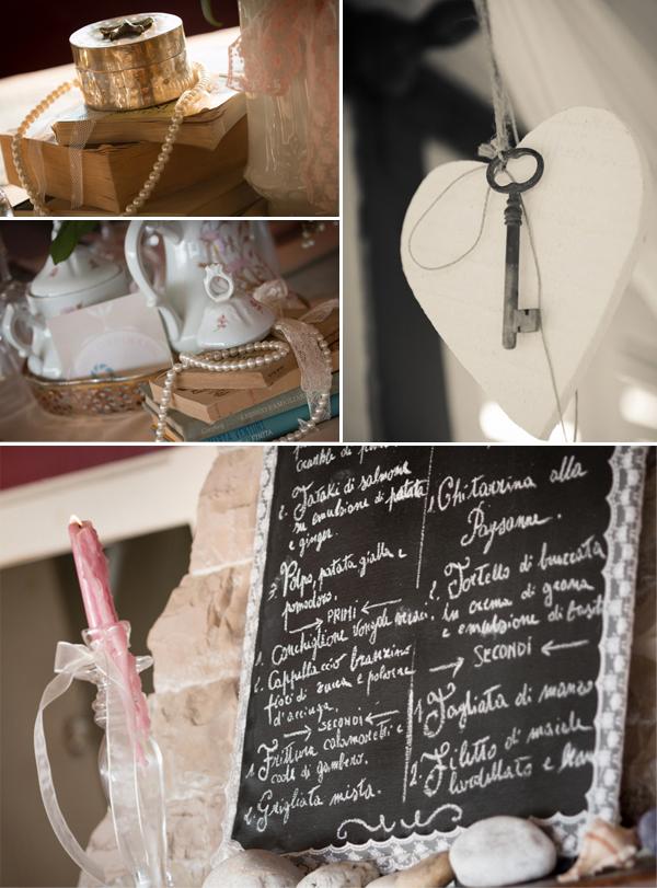 matrimonio con lo sponsor in Toscana: decorazioni vintage