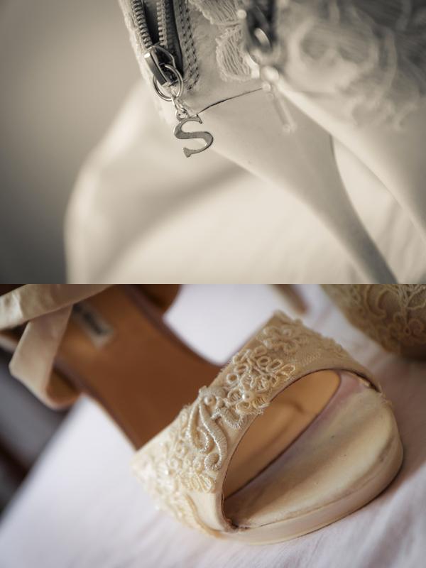 matrimonio con lo sponsor vintage in Toscana: le scarpe da sposa low cost personalizzate