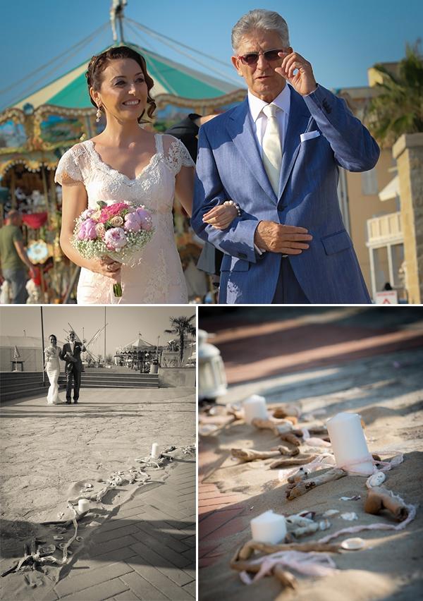 allestimento passerella sala civile per matrimonio sulla spiaggia