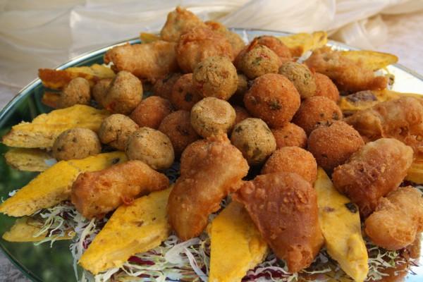 fingerfood realizzato dallo chef stellato Michelin per un matrimonio in uniforme in Calabria