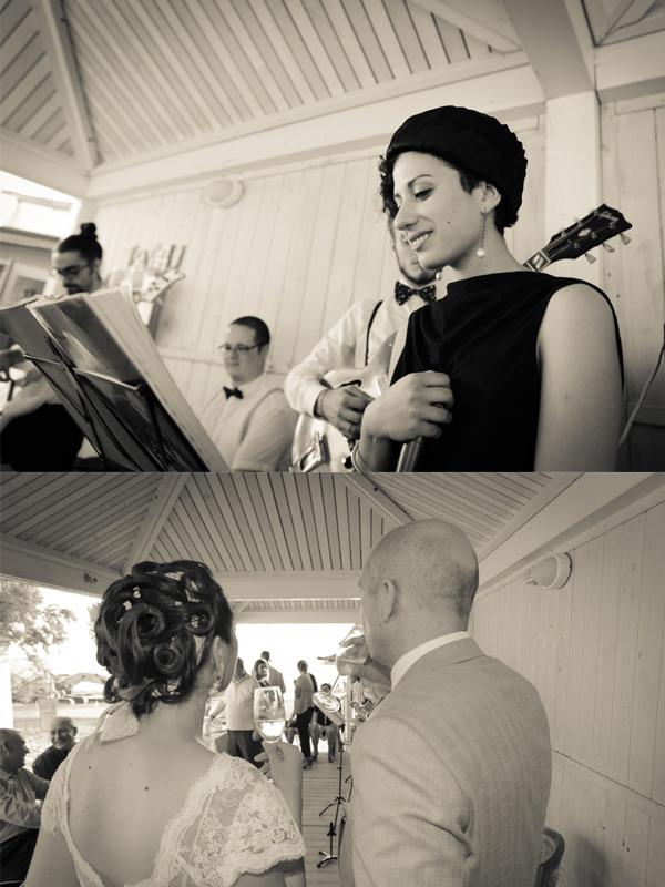 musica live ricevimento matrimonio anni '30 sulla spiaggia