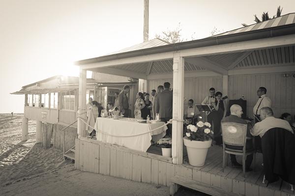 ricevimento matrimonio anni '30 sulla spiaggia