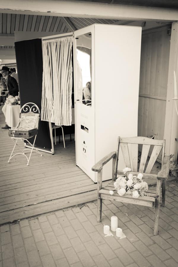photo booth matrimonio anni '30 sulla spiaggia
