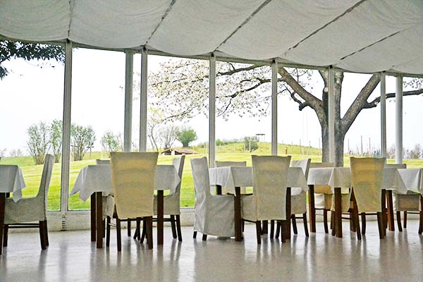 location per matrimoni sul Lago di Garda: veranda Eroma Agrturismo