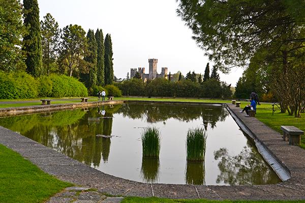 matrimonio sul giardino acquatico del Parco Sigurtà