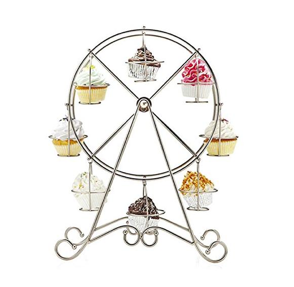 idee decorazioni matrimonio table cakes: la ruota panoramica per i cupcakes