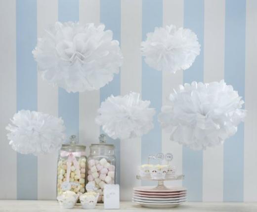 idee decorazioni matrimonio fai da te con i pon pon