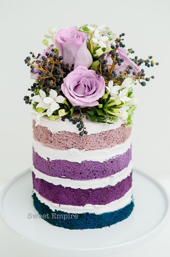 naked cake multicolor
