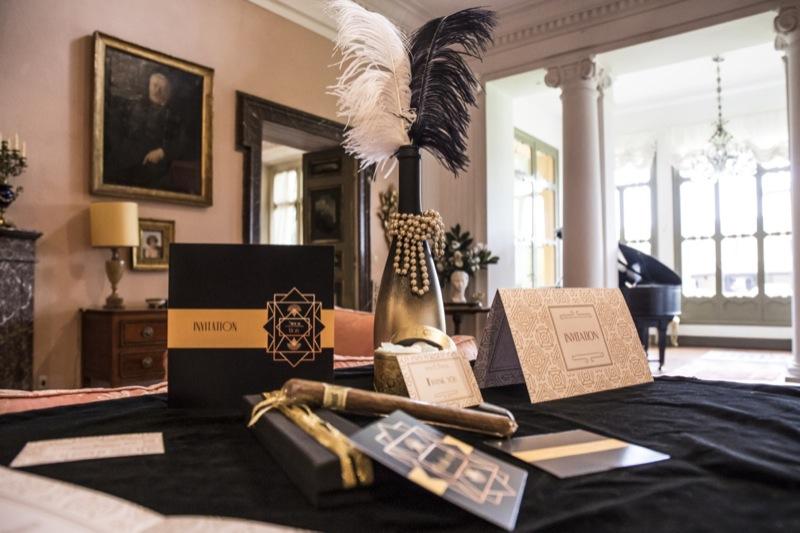 wedding suite nero e oro matrimonio a tema Il Grande Gatsby