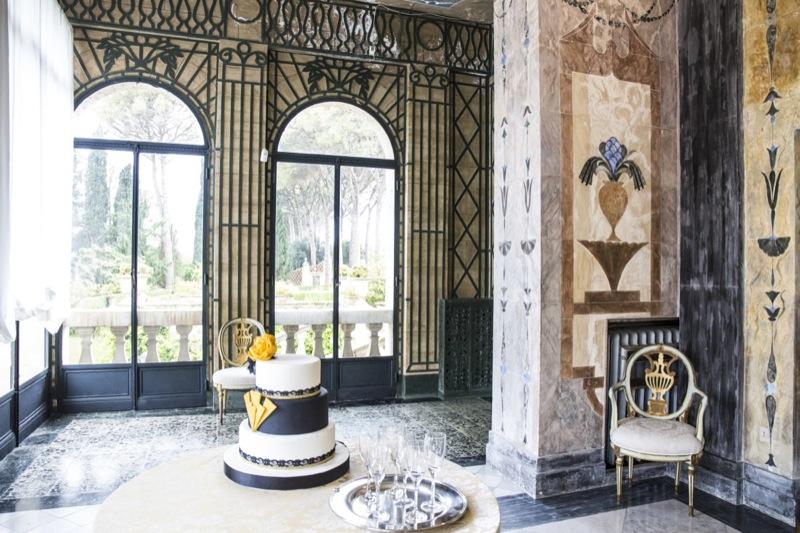 wedding cake a piani matrimonio a tema Il Grande Gatsby