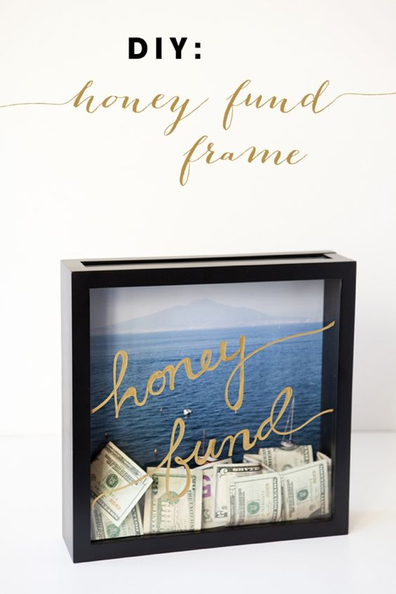 http://somethingturquoise.com/2014/07/18/diy-honeymoon-fund-frame/