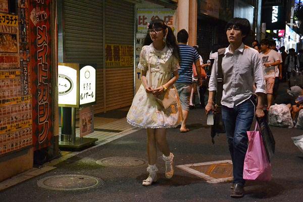 visitatori giapponesi quartiere di Akihabara a Tokyo