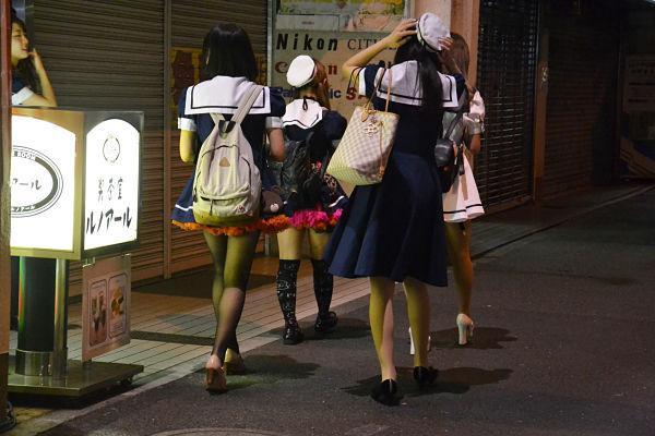 maid quartiere di Akihabara a Tokyo