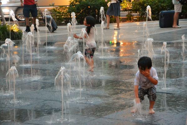 fontana alla stazione di Tokyo