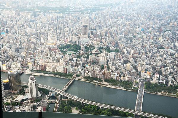 vista dallo Sky Tree Tokyo