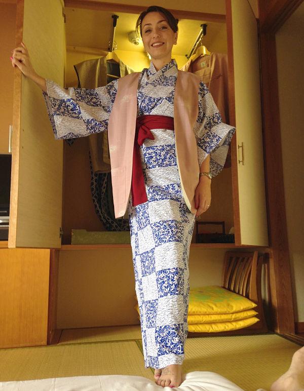 yukata in dotazione riokan a Takayama