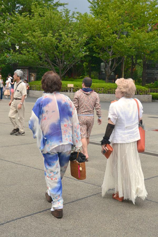 look donne giapponesi anziane Tempio Sensoji Tokyo