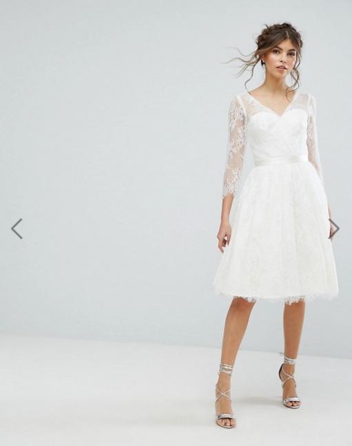abito da sposa corto low cost