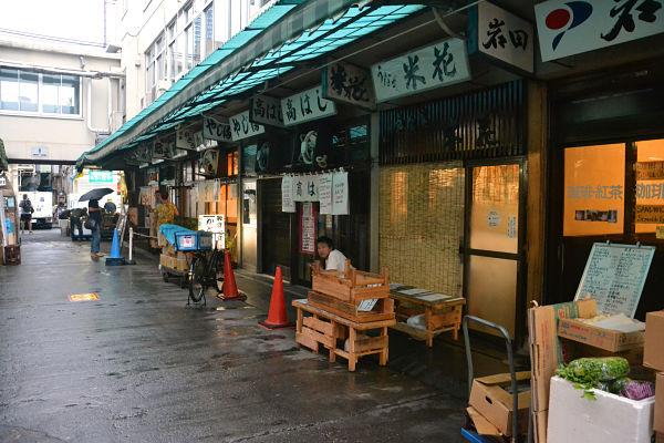 ristoranti del mercato del pesce Tsukiji a Tokyo