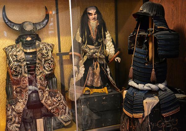 armature del Koyasan Fukuciin sul Monte Koya