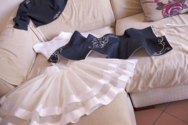 abito da sposa corto di jeans