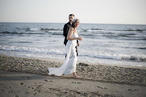 abito da sposa sirena azzurro sartoriale