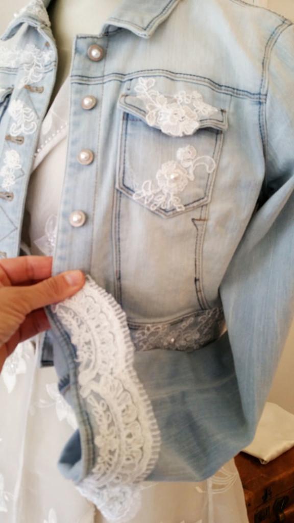 giacchetto jeans sposa