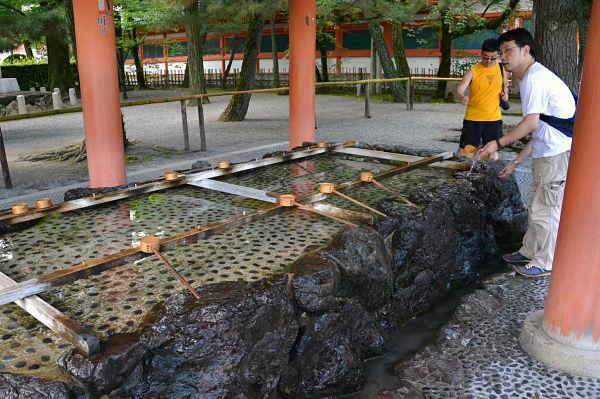 fontana santuario Heian Kyoto