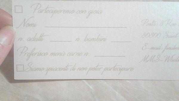 rsvp partecipazioni matrimonio con carrozza di cenerentola