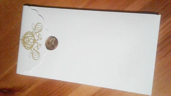 ceralacca oro busta partecipazioni di matrimonio con la carrozza di cenerentola