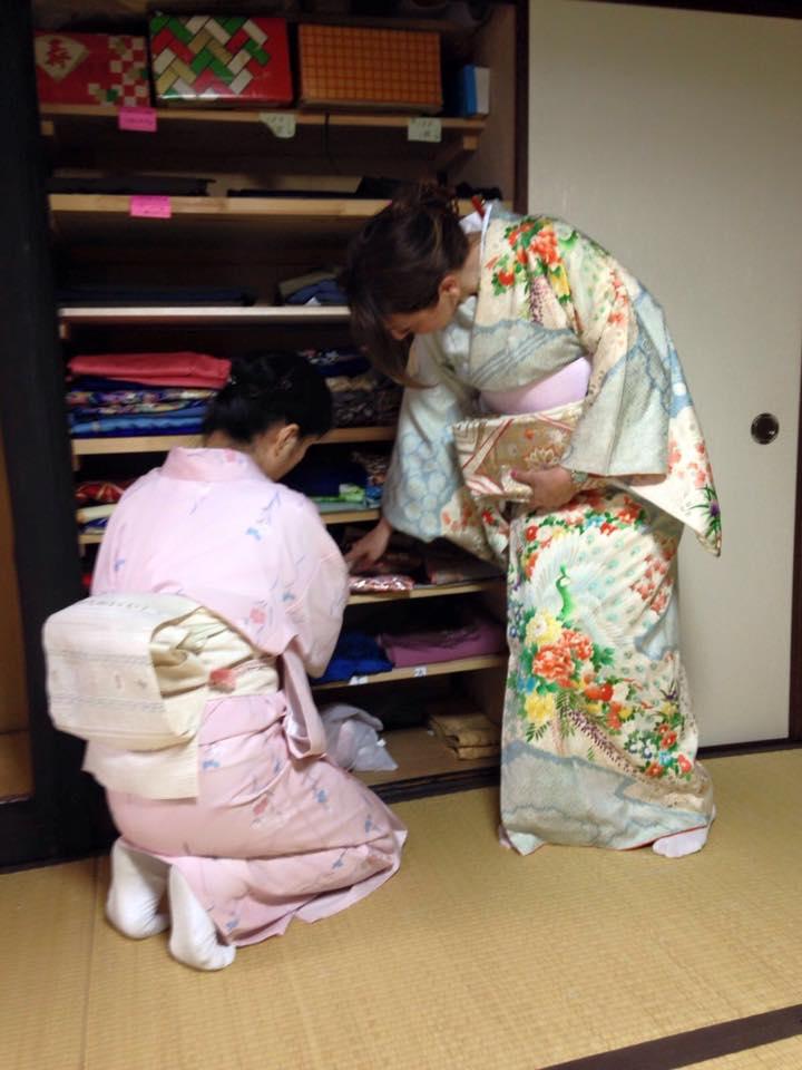 vestizione kimono kyoto