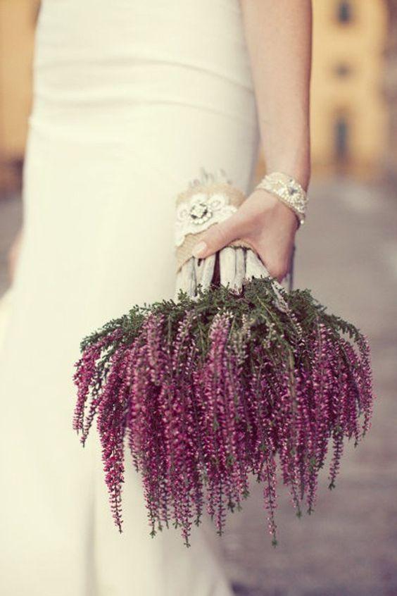bouquet sposa con erica
