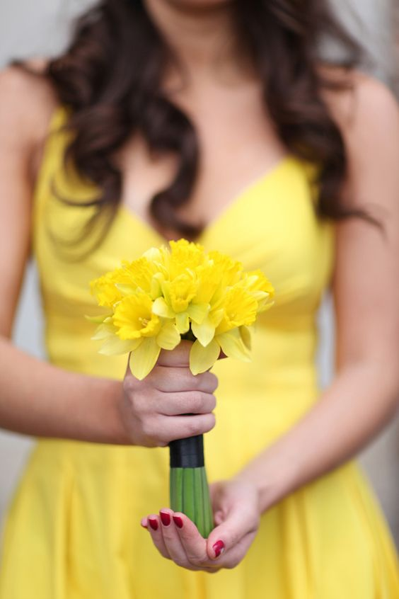 Bouquet sposa con narcisi
