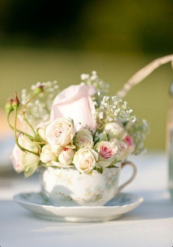 composizione con rose piccole