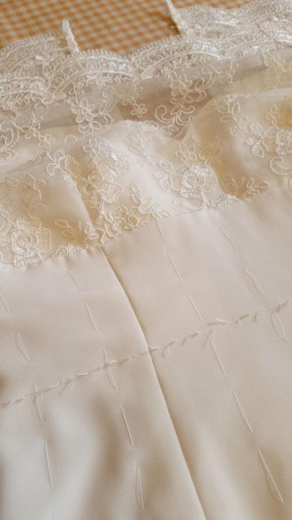 seta per abito da sposa a sirena