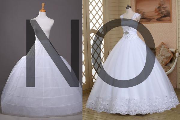 accessori sposa crinolina