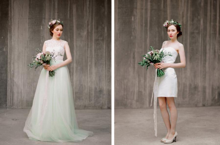 abito da sposa corto lungo
