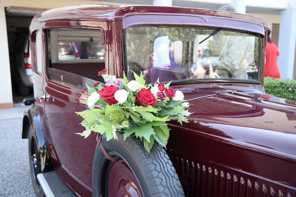 auto d'epoca per matrimonio a tema ciliegie