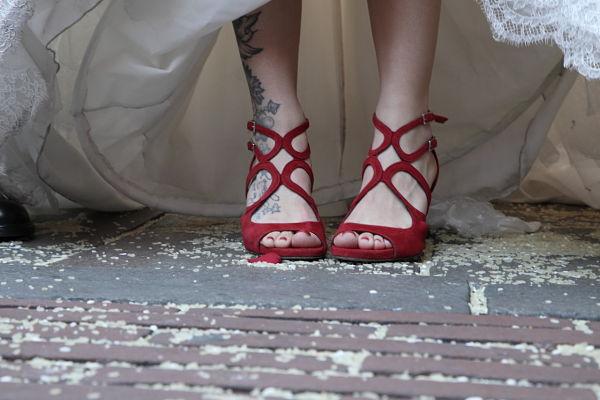 scarpa sposa rosse