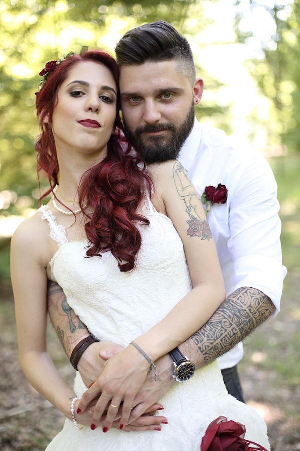 foto sposi tatuati