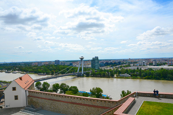 Danubio visto dal Castello di Bratislava