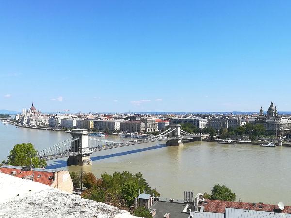 panorama di Budapest e il Danubio
