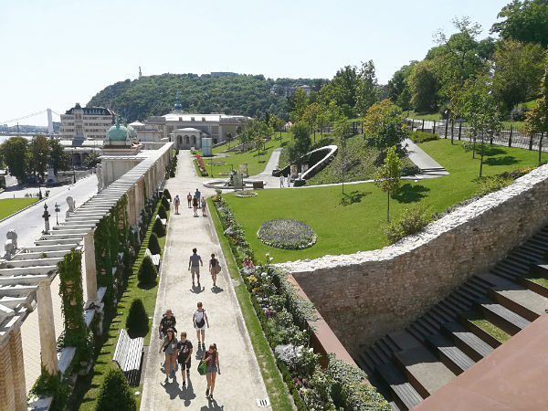 giardino del Castello di Buda