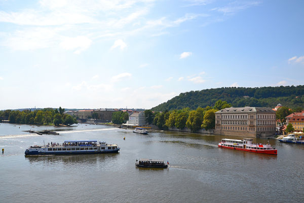 vista dal ponte Carlo Praga
