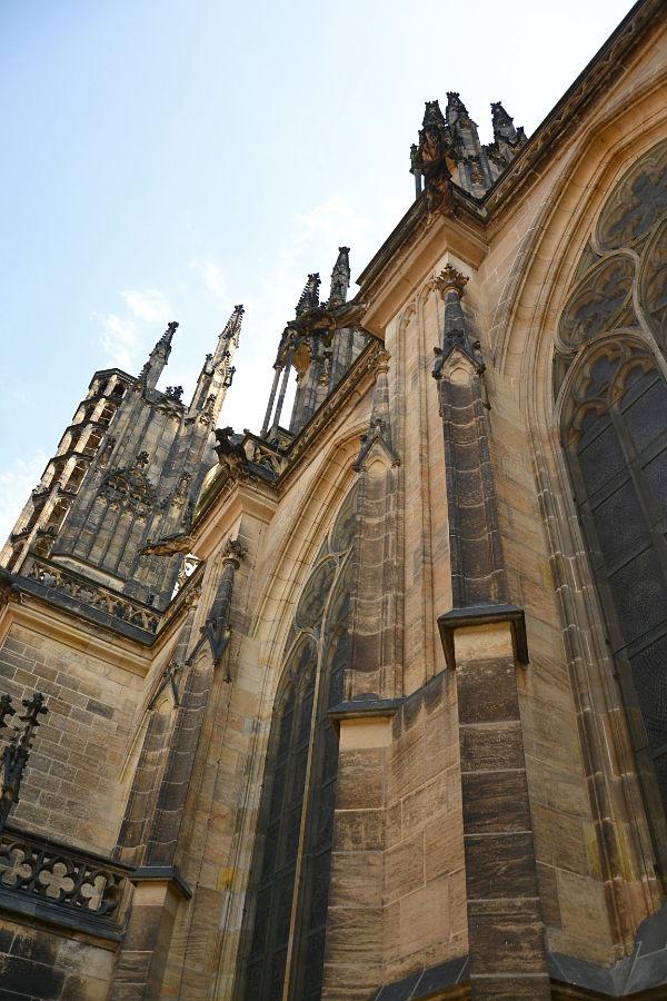 esterno della Cattedrale di San Vito a Praga