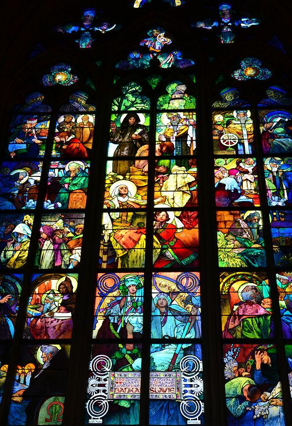 vetrata della Cattedrale di San Vito a Praga